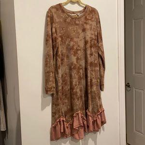 LOGO dress or long shirt with pockets pink camo